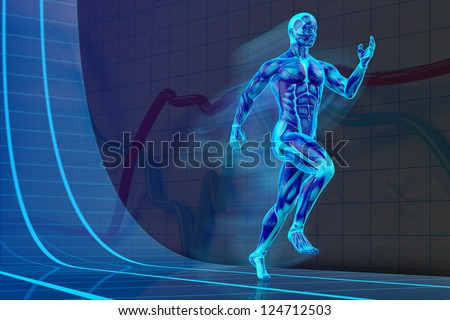 Blacklight Runner Concept muscle anatomy 3D