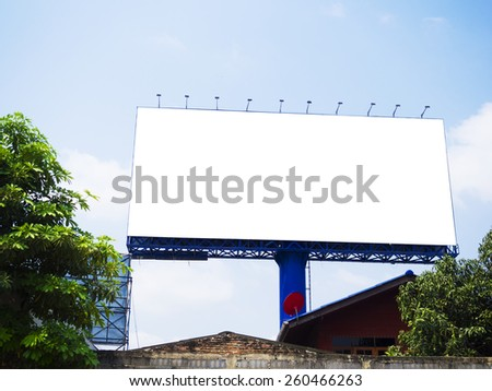 blank billboard on blue sky, for fill text