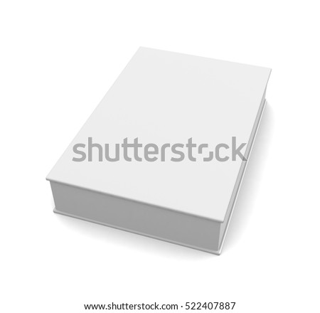 Blank box isolated on white background. 3d render