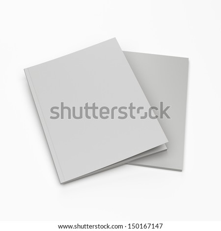 blank catalogs in a4 size set as a pile isolated on white