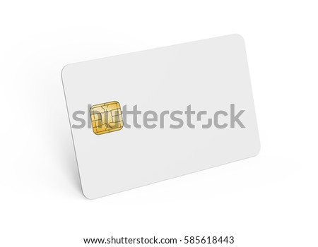 Blank Credit Card Template Empty Chip Stock Illustration