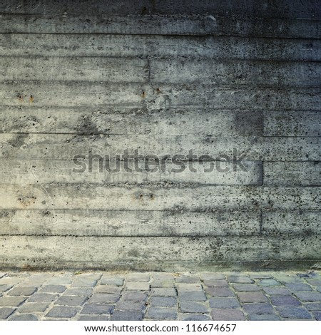 Blank dirty concrete wall textured square background.