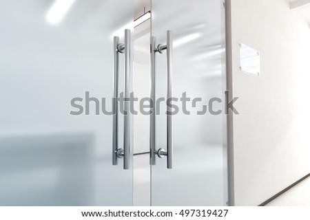 Bathroom Sign Mockup blank glass name plate design mockup stock illustration 501206479