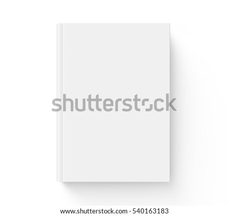Blank Book Cover Template On White Stock Vector 160840310 ...