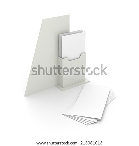 blank holder with dl size brochures