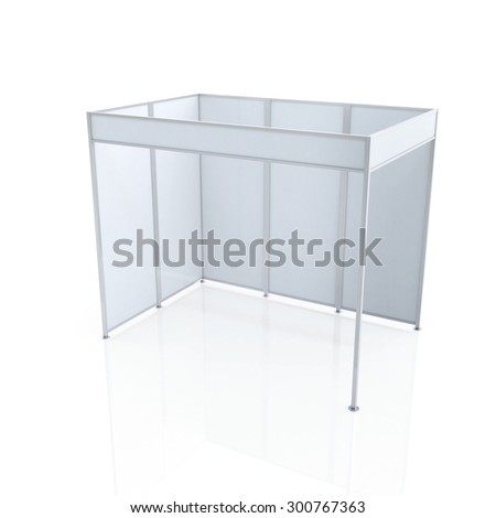 kiosk isolated on white background 3d stock illustration 507702577 shutterstock. Black Bedroom Furniture Sets. Home Design Ideas