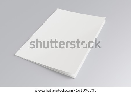 Blank Magazine isolated on grey