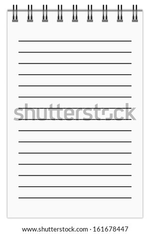 Blank Notepad, in line.