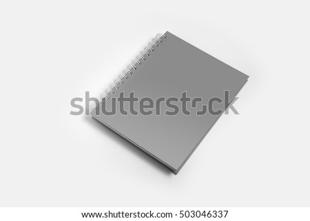 Blank of hard cover notebook mock up ,Template for advertising or branding
