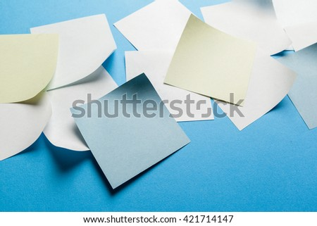 Blank paper tag label or sticker with copy space