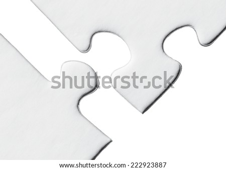 Blank puzzle on a white background