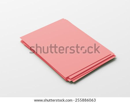 Blank Red Paper Notepad isolated on white background