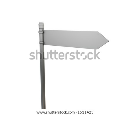 Blank road sign - 3D render