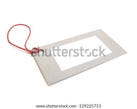 Blank tag on white background