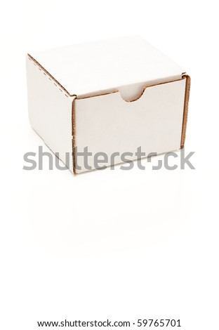 Blank White Cardboard Postal Box Isolated on a White Background.