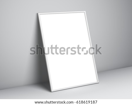 Blank White Paper List Hanging On Stock Illustration 572674321