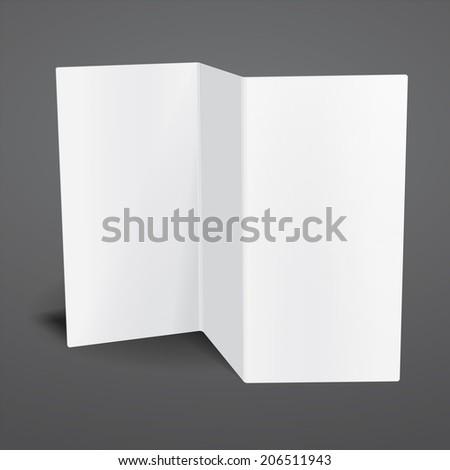 Blank White Tri Fold Brochure Template Vector 191637314 – Free Blank Tri Fold Brochure Templates