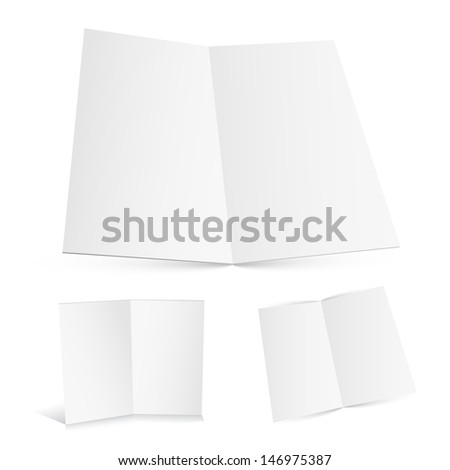 Blank white zigzag folded paper. Raster version. Vector version available in my portfolio.