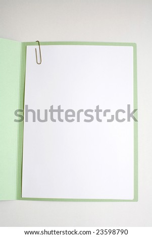 Blank work paper cover for writing, and graphics