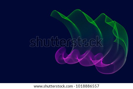 Line Art Effect Photo : Blending bright abstract illustration line art stock