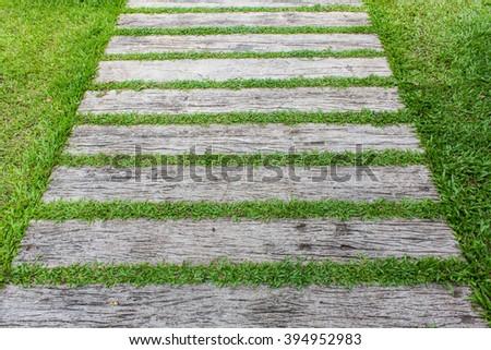 Outdoor Walkway Green Grass Stockfoto 567390802 Shutterstock