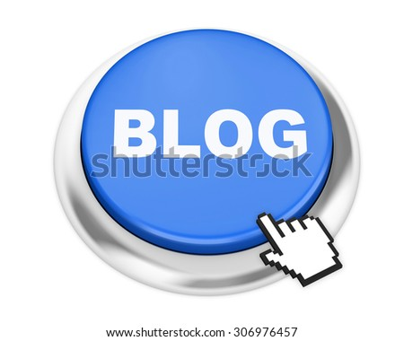 blog button on isolate white background