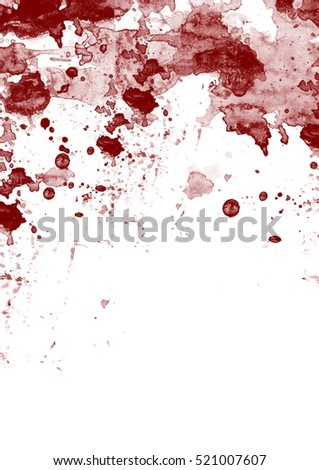 Blood stains and spots