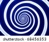 Blue and white hypnotic whirlpool shape - stock photo