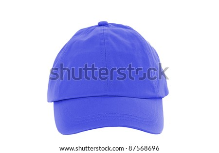 Blue Baseball Cap isolated on white