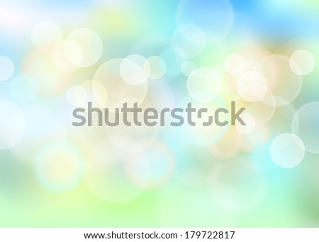 Blue blurred abstract light background bokeh