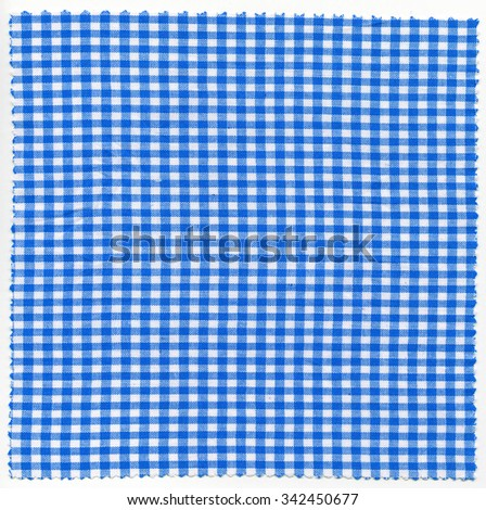 Blue checker fabric cloth useful as a background