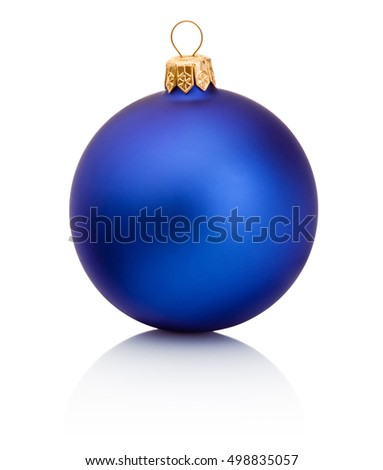 Blue christmas bauble Isolated on white background