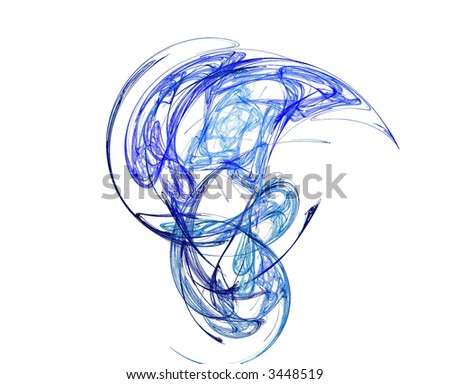 blue circles intertwined fractal background