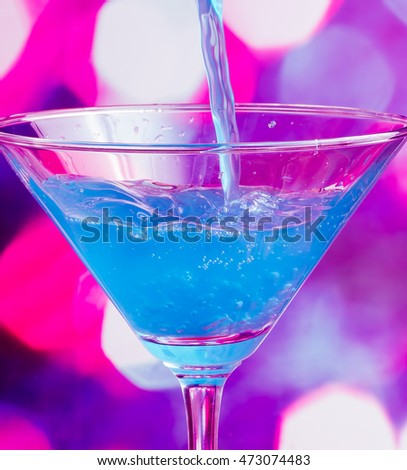 Blue Cocktail Meaning Celebration Alcoholic And Alcohol