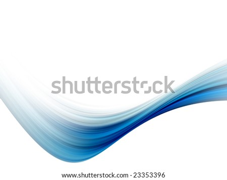 blue dynamic wave on white background illustration