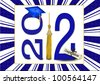 blue grad hat with gold tassel for  class of 2012 - stock photo