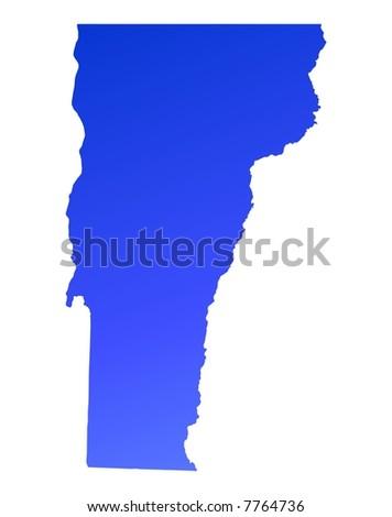 Vermont Usa Map Filled Orange Gradient Stock Illustration - Vermont map usa
