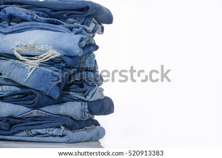 Blue Jeans stacked