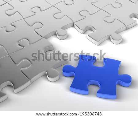 Blue Jigsaw is Missing Element
