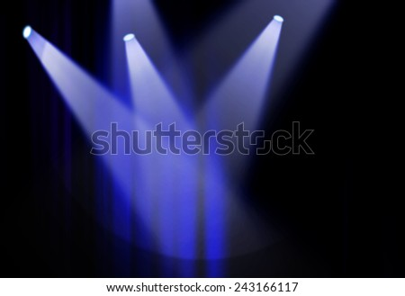 Blue light stage background