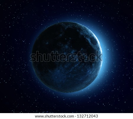 Blue Moon - high resolution CGI image of the Moon