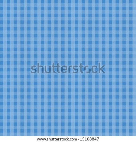 Blue Plaid Fabric Background which will tile seamlessly