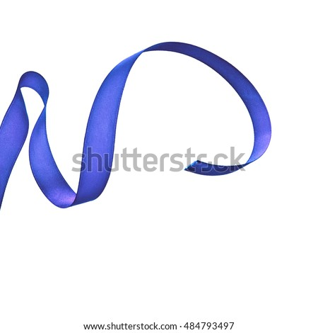 blue ribbon fly and bend isolated on a white background
