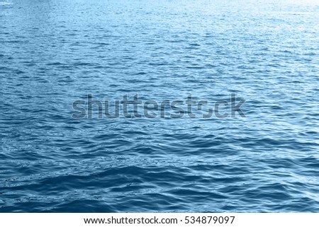 Blue sea water wave surface closeup