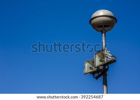 Blue sky and a street lamp