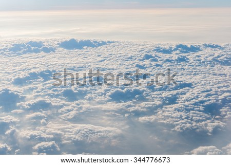 Blue sky and Cloud was taken on a plane for background