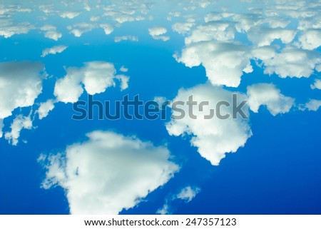 blue sky with cloud closeup.The vast blue sky and clouds sky or background.