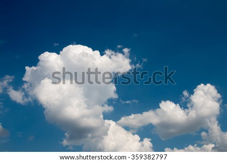 Blue sky with clouds close up