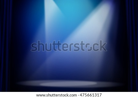 Blue stage light background