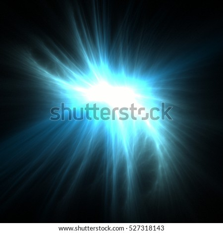 Blue star light effects. Abstract fireworks shine wires